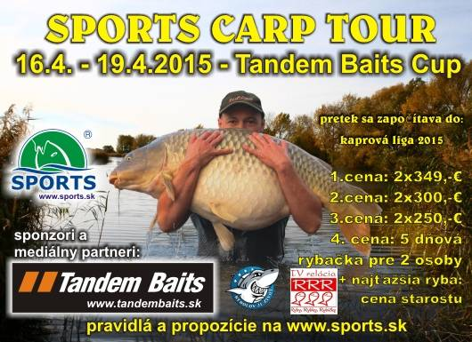 SPORTS CARP TOUR - Tandem Baits CUP - Dolný Bar 16.4. - 19.4.2015