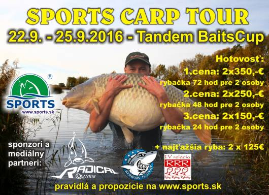 SPORTS - TandemBaits CUP  22 - 25.9.2016