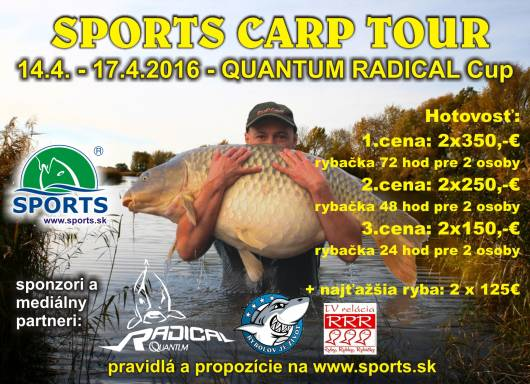 SPORTS CARP TOUR - QUANTUM RADICAL CUP - Dolný Bar 14.-17.4.2016