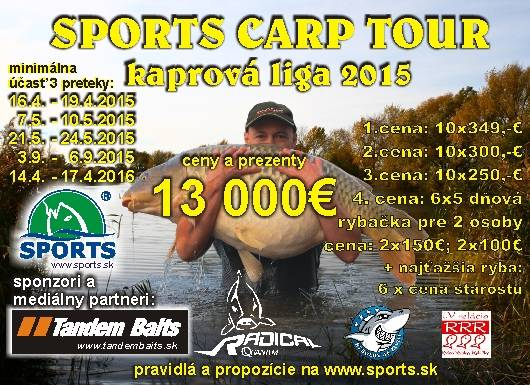 SPORTS CARP TOUR - Kaprová liga 2015