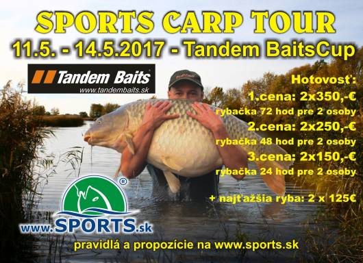 SPORTS TandemBaits CUP  11. - 14. 5. 2017