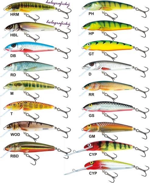 Salmo rybarske voblery  Minnow M7SDR
