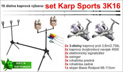Kaprársky set 3K16 - 3diel/3,6m/2,75lbs