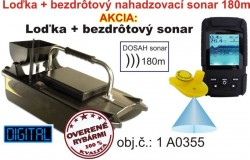 Akciv� set zav�acia lodka  bezdr�tov� sonar do 180m