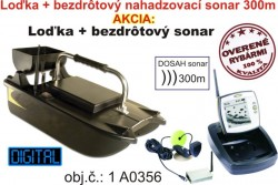 Akciv� set zav�acia lodka  bezdr�tov� sonar do 300m