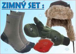 SPORTS Winter set 3: ušianka +rukavice+ponožky+hrejitko