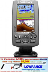 Sonar s GPS - LOWRANCE Hook-4  Chirp so sondou
