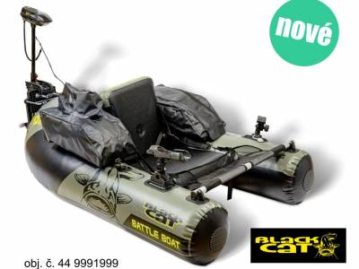 Novinka: Belly boat Black Cat set s elektromotorom BC2400