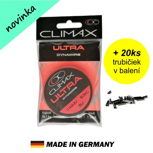 Oceľová šnúra Climax DYNAWIRE 5m + 20ks trubičiek