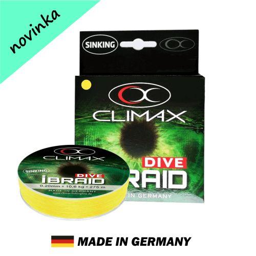 Potápavá šnúra Climax iBraid DIVE žltá 135m