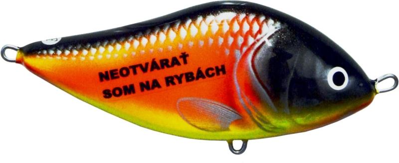 Rybárska magnetka wobler s nápisom - Som na rybách