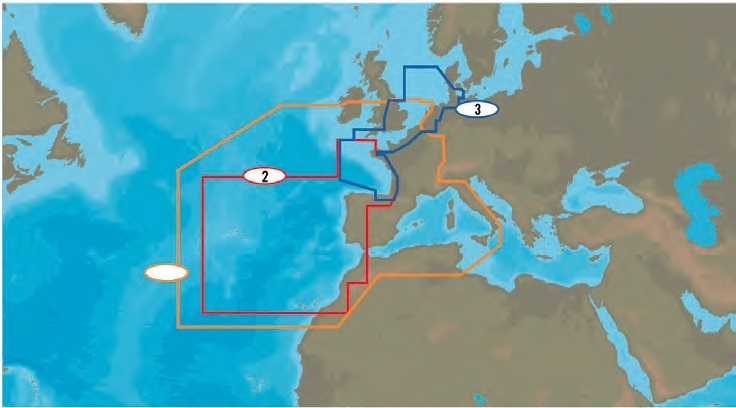 Mapa: 2, West European Coasts