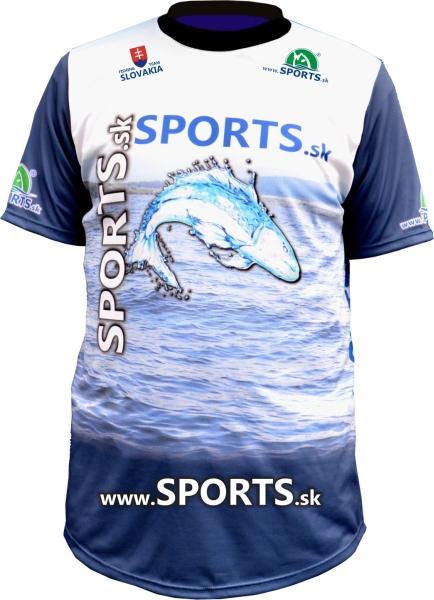 Dres SPORTS s logom ryby Veľkosť S
