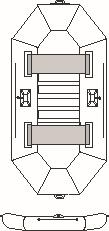 Albastar člny NAUTILUS 270 lamely
