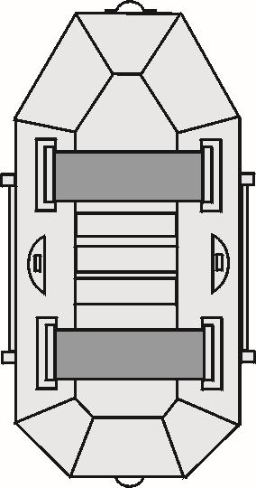 Albastar člny DELTA 250 držiak