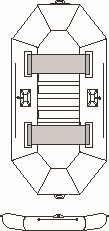 Albastar člny NAUTILUS 300 držiak