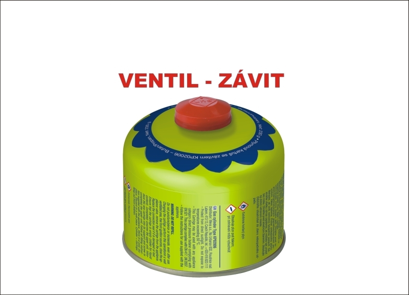 Náhradná tlaková kartuš 227g - ventil, bután, 220x pr. 68mm