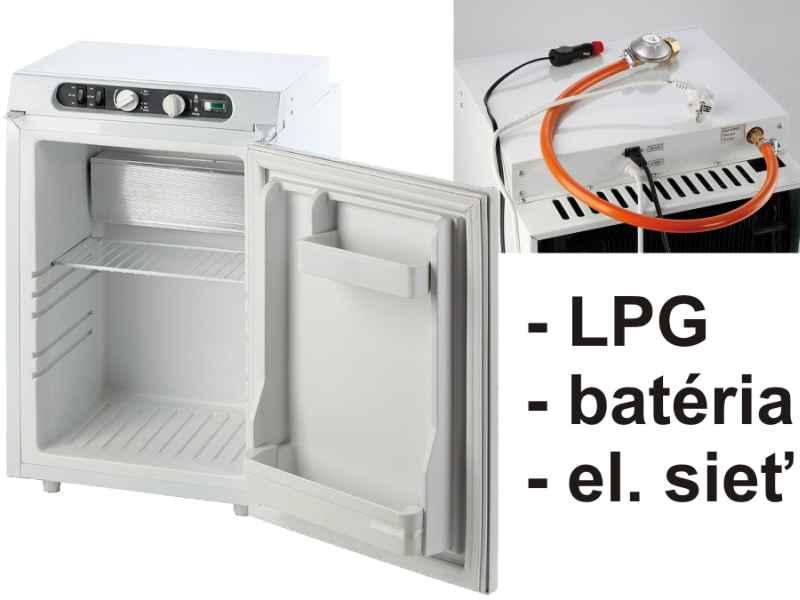 Absorpčná cestovná chladnička 62l- 490 x 485 x 655 mm