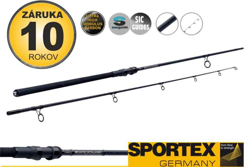 Kaprárske prúty SPORTEX Rapid Stalker 2-diel 300cm / 2,00lbs
