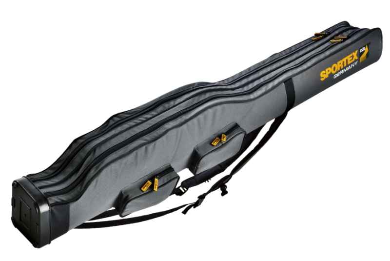 SPORTEX Púzdro dvojkomorové pre 2 - 4 prúty V-šedé