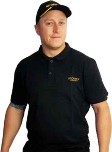SPORTEX Classic Polokošeľa s logom - čierna Veľkosť: M