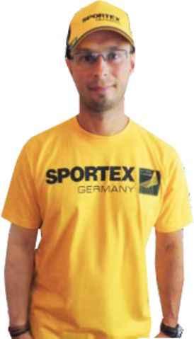 SPORTEX T-Shirt Tričko s veľkým logom - žlté Veľkosť: XXL
