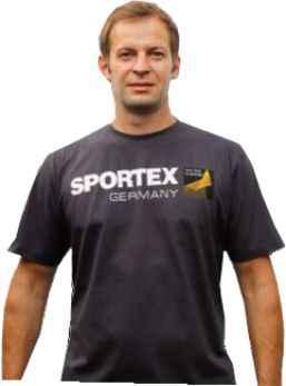 SPORTEX T-Shirt Tričko s veľkým logom - tmavo šedé Veľkosť: M