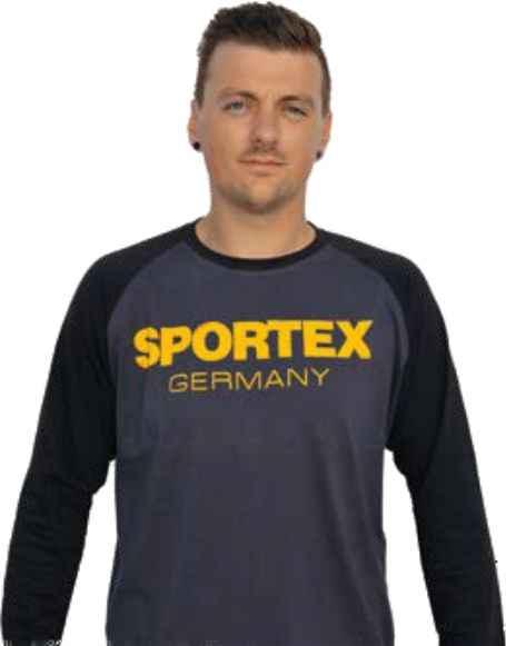 SPORTEX Tričko s dlhým rukávom a logom - čierne Veľkosť: XXL