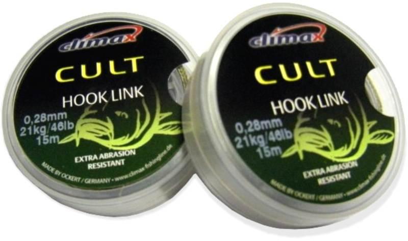 Nadväzcová šnúra CLIMAX - CULT Hook Link - 15m 15m 0,35mm 30kg/66lb