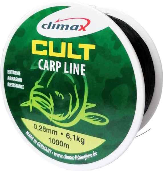 Climax silon Cult Carp line - čierny 1000m Priemer: 0,30mm nosnosť: 7,0kg