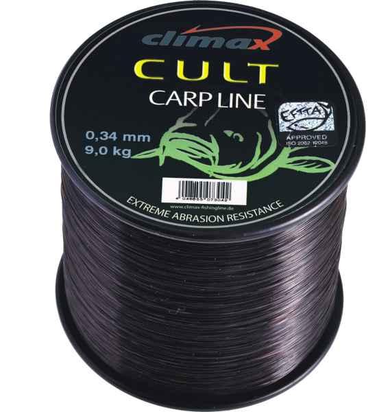 Silon Climax - CULT Carpline 1200m - Black Priemer 0,25mm/5kg