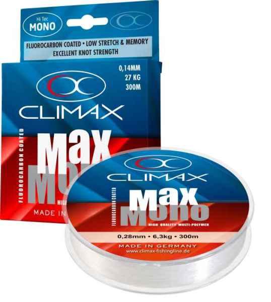 Špeciálny prívlačový silon CLIMAX Max-Mono 300m 0,16mm / 2,4kg / 300m