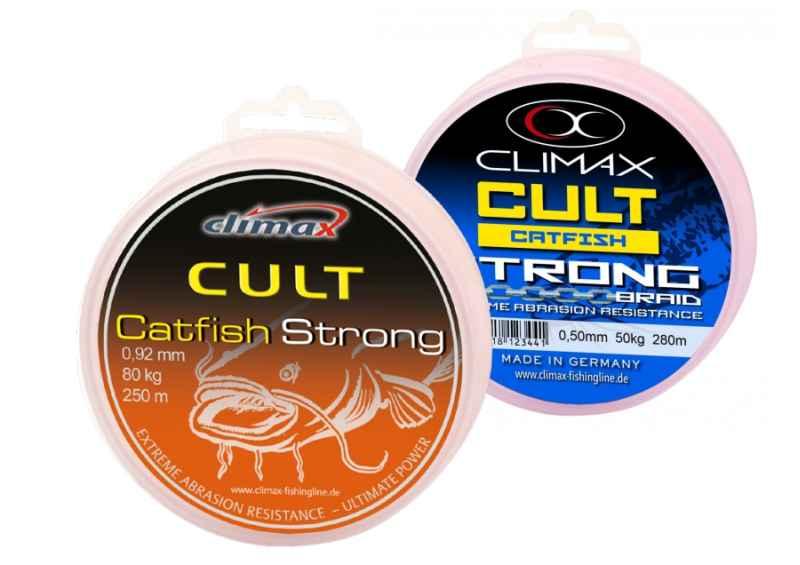 CLIMAX šnúra 280m - CULT Catfish Strong - hnedá