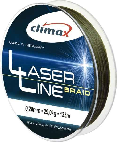 Climax šnúra 135m - Laser Braid line Olive SB 6 vlákien 135m 0,40mm / 44kg