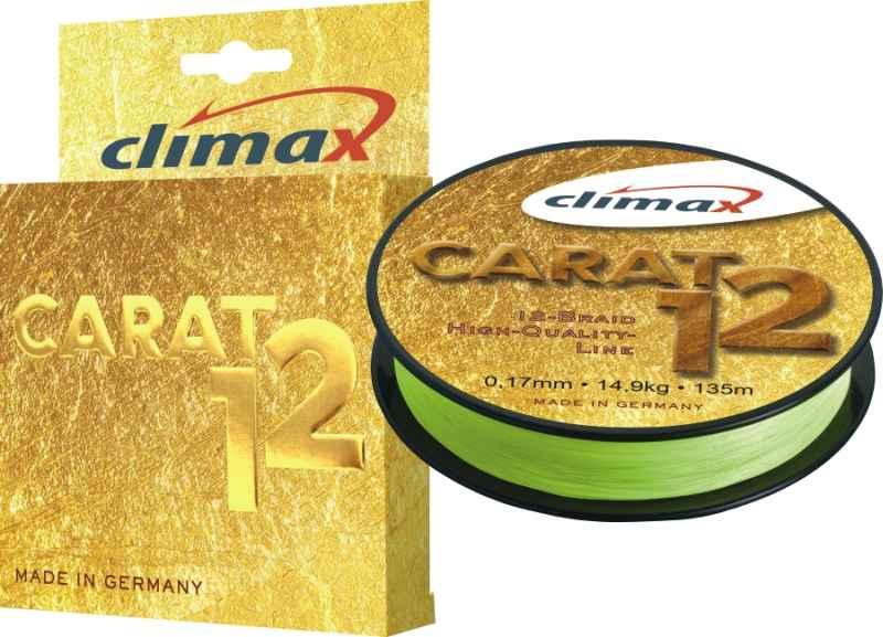 Pletená šnúra CLIMAX Carat 12 fluo žltá 135m