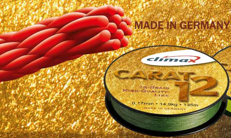 Pletená šnúra CLIMAX Carat 12 - oliva 135m