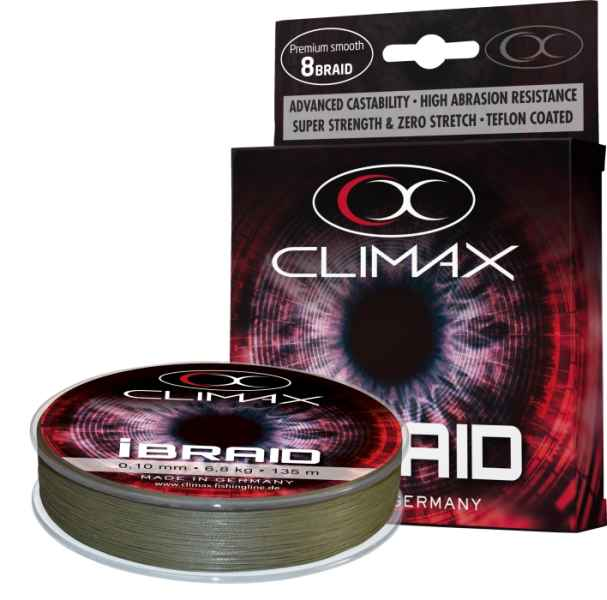 Pletená šnúra Climax iBraid zelená oliva 135m