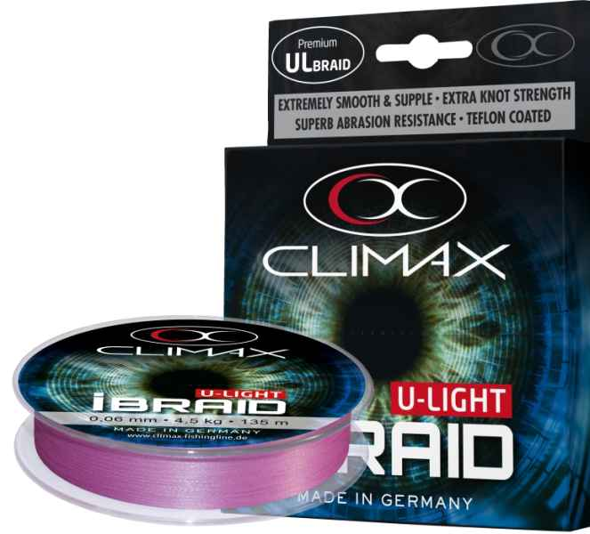 Pletená šnúra Climax iBraid U-Light fluo-fialová 135m
