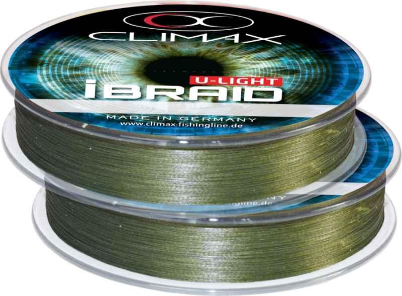 Pletená šnúra Climax iBraid U-Light zelená 100 až 500m Priemer: 0,10mm / 7,5kg