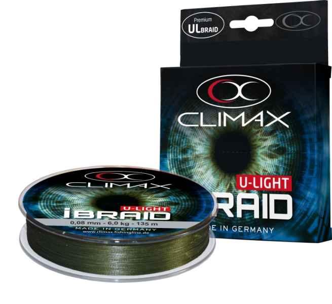 Pletená šnúra Climax iBraid U-Light zelená 135m/0,08mm/6kg