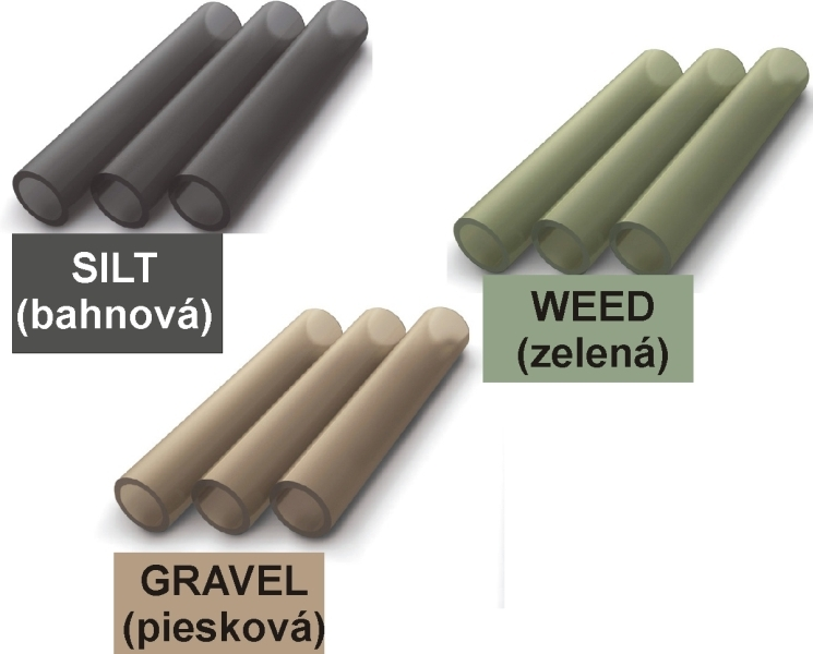 TANDEM BAITS FC Silicon sleeve 0,4 x 5cm / 10ks farba gravel