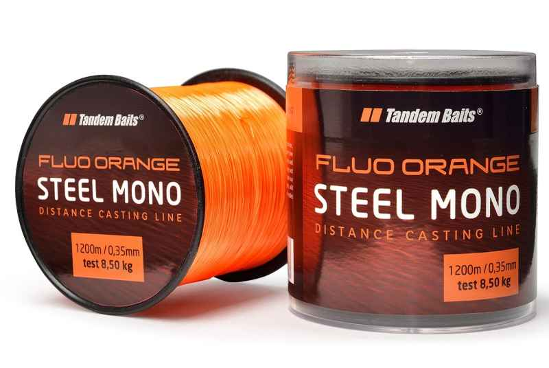 Silon Steel Mono Fluo orange Tandem Baits