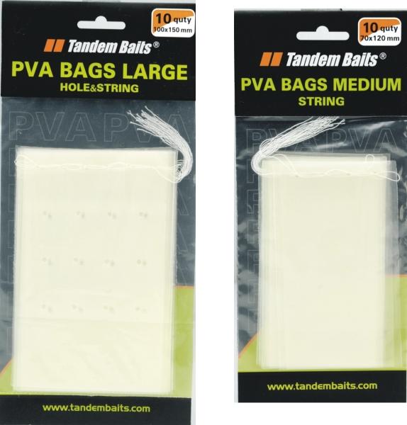 PVA sáčky Medium perforované s niťou 70x120mm/10ks Large 100x200mm/10ks