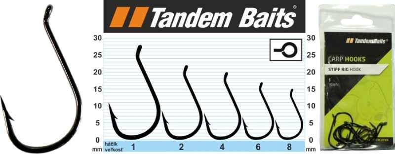 Kaprové rybárske háčiky Stiff Rig Tandem Baits 10ks veľkosť8, 10ks