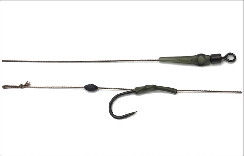 BoilieBottom Rig - nadväzec - 25lb /20 cm / 2 pcs / MF veľkosť 2