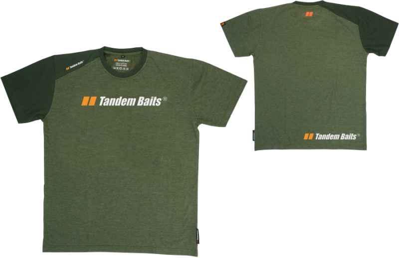 Tričko Tandem Baits krátky rukáv - zelené Veľkosť: XXL