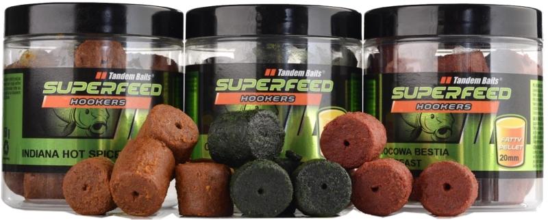 Super Feed - Hook Fatty Pellet - 20mm / 150g Halibut & Strawberry/Halibut a jahoda