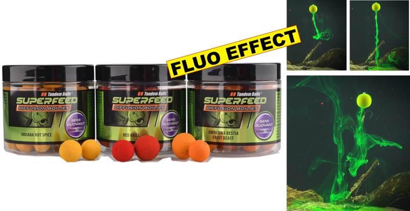 SuperFeed - Diffusion Boilies-plávajúce 14-16mm/90g Fat Salmon&Caviar- Diffusion efekt - oranžový