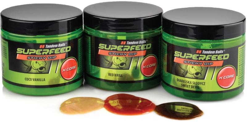 SuperFeed X Core Sticky Dip 100ml - Tandem Baits Sexy Peach
