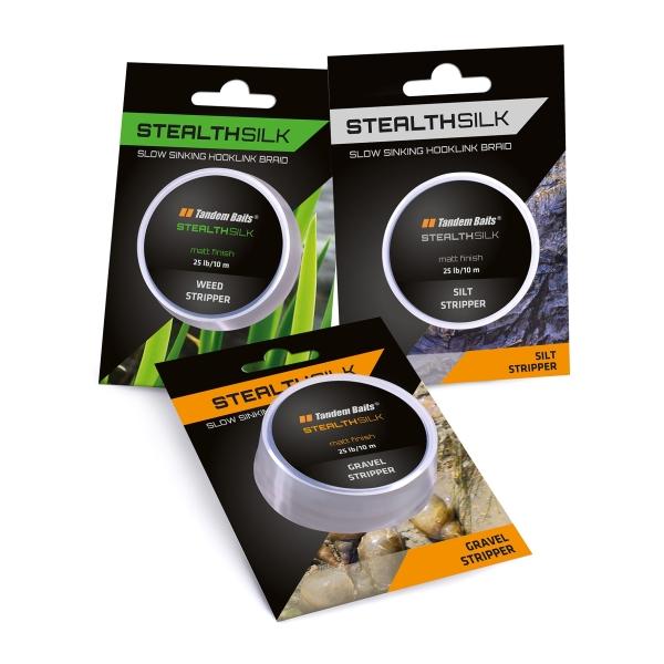 Šnúra Stealth Silk Stripper 25 lb / 10 m gravel